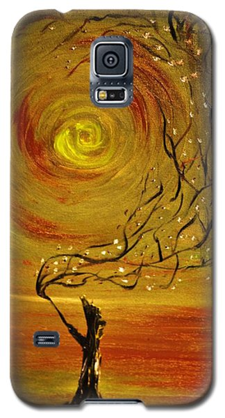 Galaxy S5 Case featuring the painting Blossom by Evelina Popilian