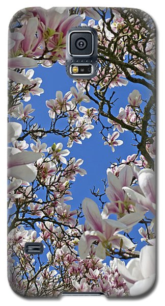 Galaxy S5 Case featuring the photograph Blossom Magnolia White Spring Flowers Photography by Artecco Fine Art Photography