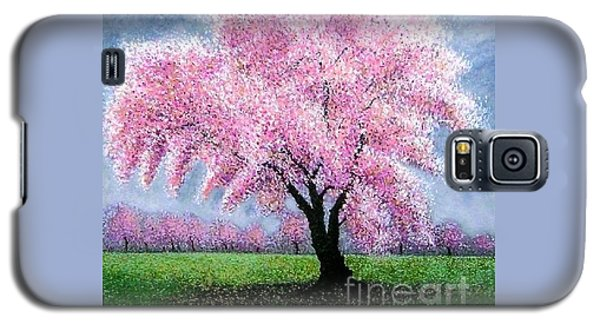 Galaxy S5 Case featuring the painting Blossoming Into Spring by Marie-Line Vasseur