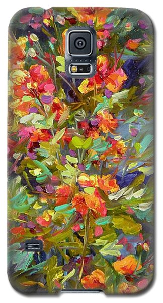 Galaxy S5 Case featuring the painting Blossoms Of Hope by Chris Brandley