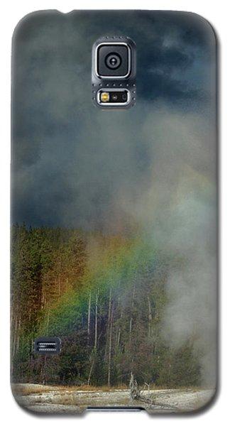 Blow Hole Rainbow Galaxy S5 Case