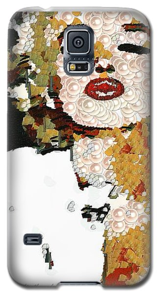 Galaxy S5 Case featuring the painting Blow Me A Kiss Marilyn Monroe In The Mix by Catherine Lott