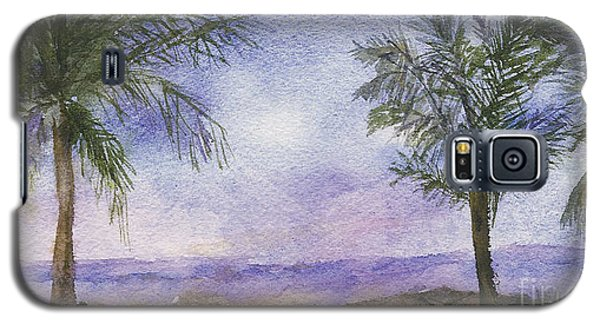 Galaxy S5 Case featuring the painting Blowing By The Ocean by Vicki  Housel