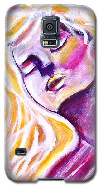 Galaxy S5 Case featuring the painting Blowing In The Wind by Anya Heller