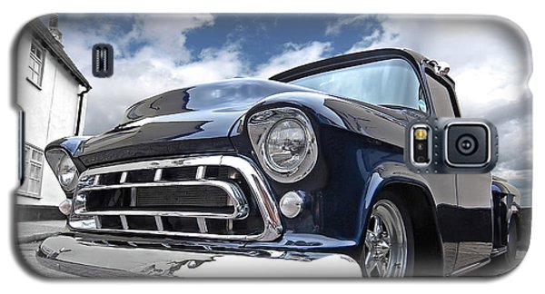 Blue 57 Stepside Chevy Galaxy S5 Case