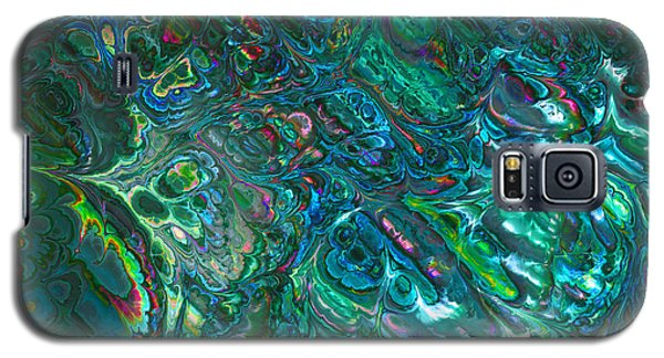 Blue Abalone Abstract Galaxy S5 Case
