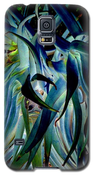 Blue Abstract Art Lorx Galaxy S5 Case