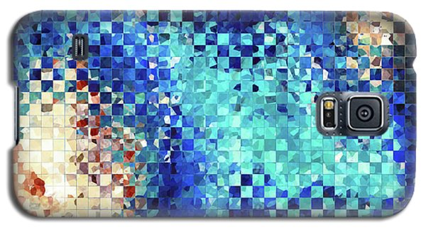 Blue Abstract Art - Pieces 2 - Sharon Cummings Galaxy S5 Case by Sharon Cummings