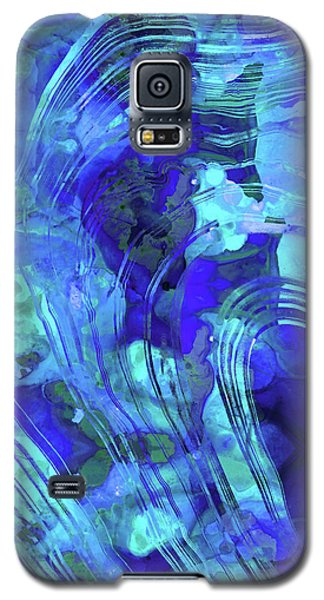Blue Abstract Art - Reflections - Sharon Cummings Galaxy S5 Case by Sharon Cummings