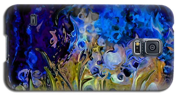 Blue Abstract Blue Symphony In Color By Sherri Nicholas Of Palm Springs Galaxy S5 Case