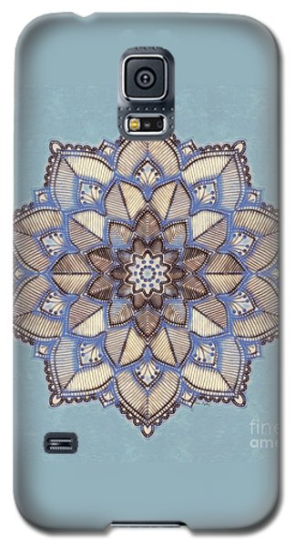 Blue And White Mandala Galaxy S5 Case