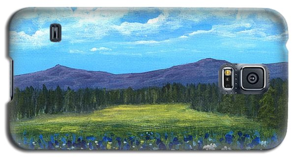 Galaxy S5 Case featuring the painting Blue Afternoon by Anastasiya Malakhova