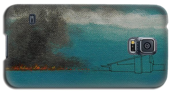 Blue Alexander With Brush Fire Galaxy S5 Case by Stan  Magnan