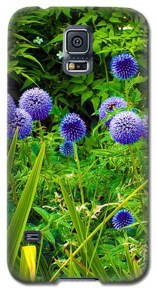 Blue Allium Flowers Galaxy S5 Case