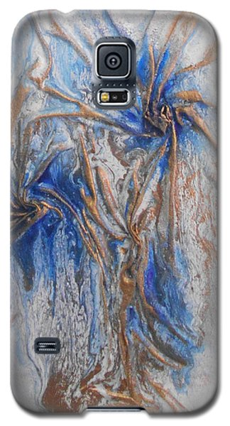 Blue And Gold 1 Galaxy S5 Case by Angela Stout