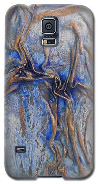Blue And Gold 2 Galaxy S5 Case by Angela Stout