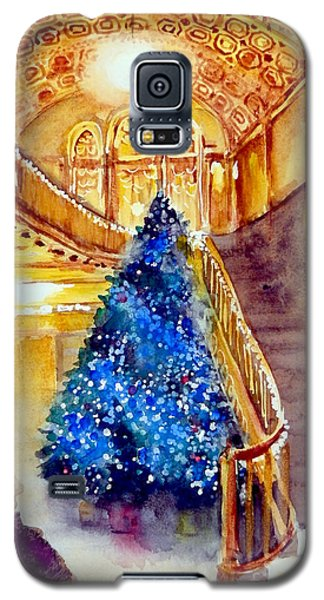 Blue And Gold 2 - Michigan Theater In Ann Arbor Galaxy S5 Case by Yoshiko Mishina