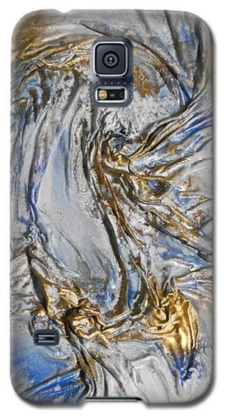 Blue And Gold 3 Galaxy S5 Case by Angela Stout