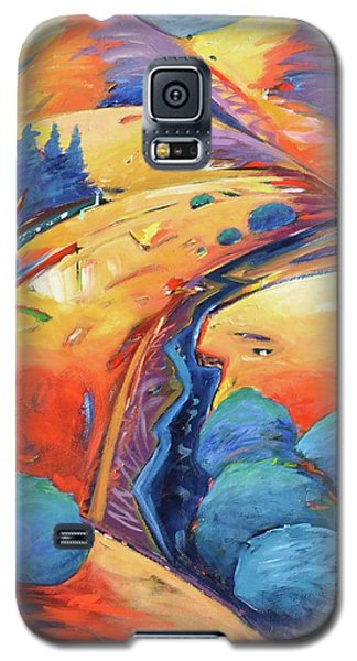Blue And Gold Galaxy S5 Case