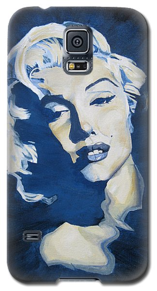 Blue And Gold Marilyn Galaxy S5 Case