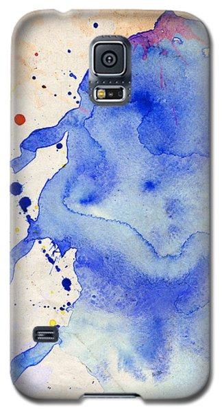 Blue And Orange Color Splash Galaxy S5 Case