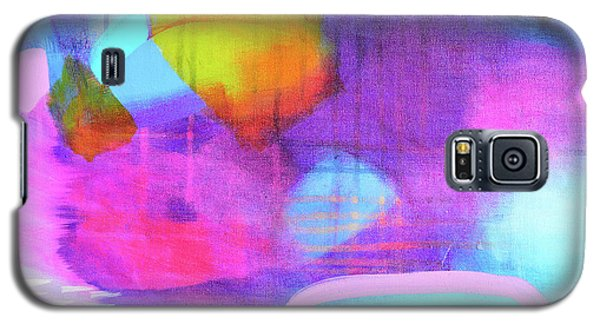 Blue And Pink Abstract Galaxy S5 Case