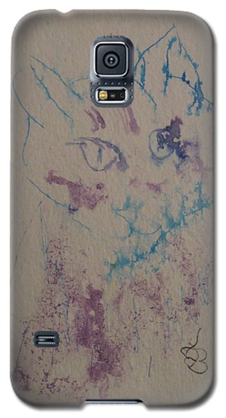 Blue And Purple Cat Galaxy S5 Case