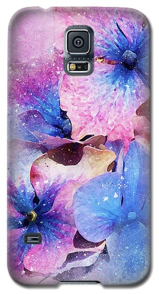 Blue And Purple Flowers Galaxy S5 Case
