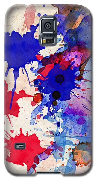Blue And Red Color Splash Galaxy S5 Case