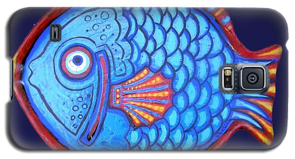 Blue And Red Fish Galaxy S5 Case