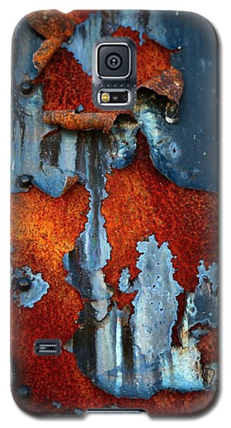 Galaxy S5 Case featuring the photograph Blue And Rust by Karol Livote
