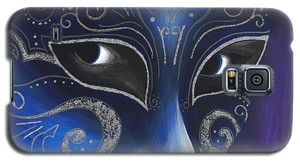Blue And Sliver Carnival Flair  Galaxy S5 Case