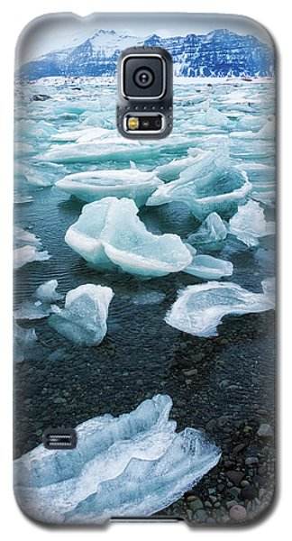 Blue And Turquoise Ice Jokulsarlon Glacier Lagoon Iceland Galaxy S5 Case by Matthias Hauser