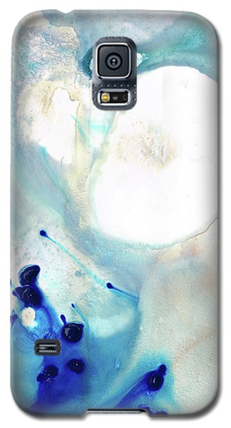 Blue And White Art - A Short Wave - Sharon Cummings Galaxy S5 Case by Sharon Cummings