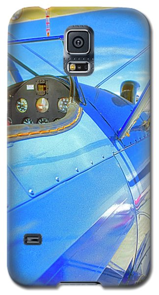 Blue And Yellow Bi Wing  Galaxy S5 Case