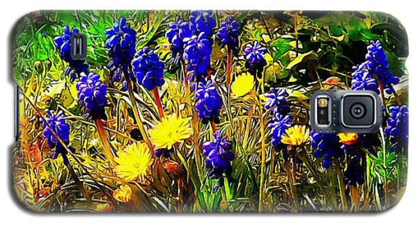 Blue And Yellow Wild Flower Medley Galaxy S5 Case