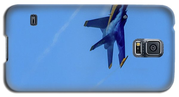Galaxy S5 Case featuring the photograph Blue Angel 5 Contrails by Randy Scherkenbach