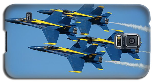 Galaxy S5 Case featuring the photograph Blue Angels Diamond Formation by Adam Romanowicz