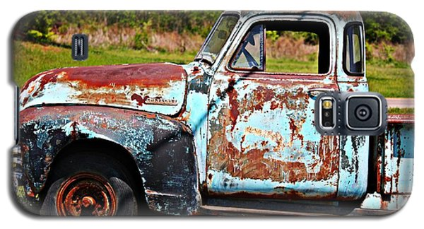 Blue Antique Chevy Truck- Fine Art Galaxy S5 Case