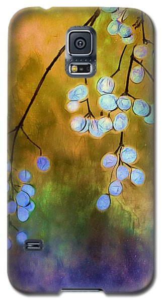 Blue Autumn Berries Galaxy S5 Case