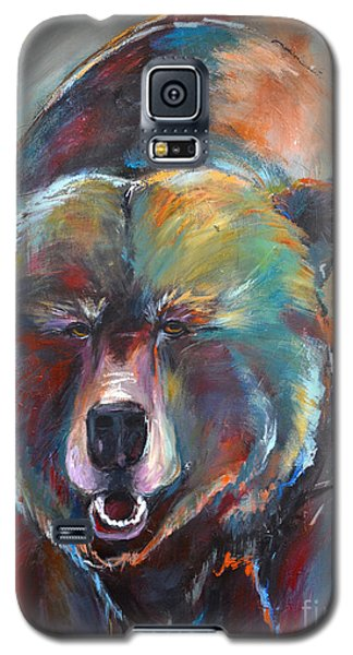Galaxy S5 Case featuring the painting Blue Bear by Cher Devereaux