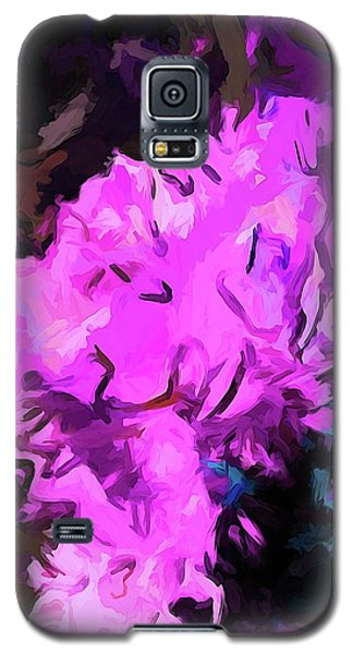 Blue Behind Pink Galaxy S5 Case