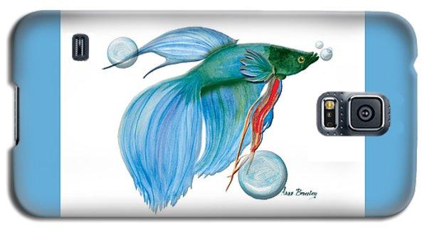 Blue Beta Fish Galaxy S5 Case