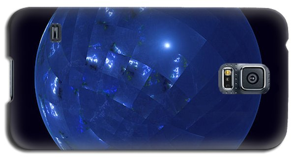 Blue Big Sphere With Squares Galaxy S5 Case by Ernst Dittmar
