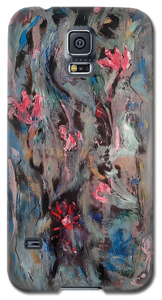 Blue Bird In Flower Garden Galaxy S5 Case