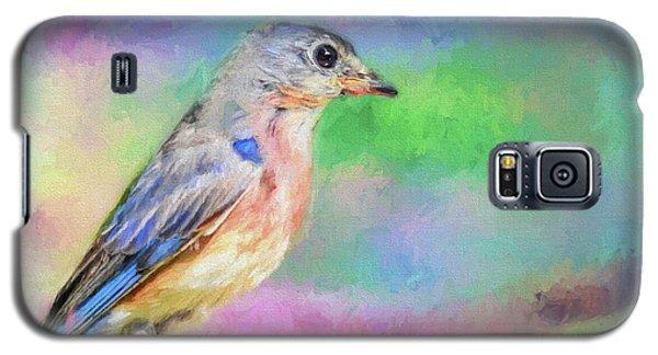 Blue Bird On Color Galaxy S5 Case