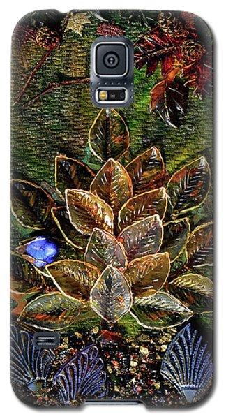 Blue Bird Singing In An Autumn Tree Galaxy S5 Case by Donna Blackhall