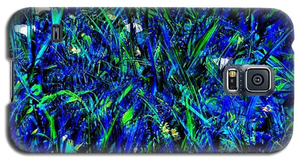 Blue Blades Of Grass Galaxy S5 Case
