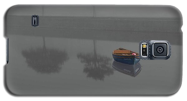 Blue Boat In Fog Galaxy S5 Case
