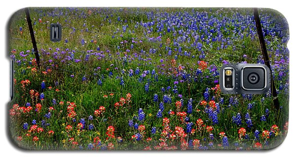 Galaxy S5 Case featuring the photograph Bluebonnets #0487 by Barbara Tristan